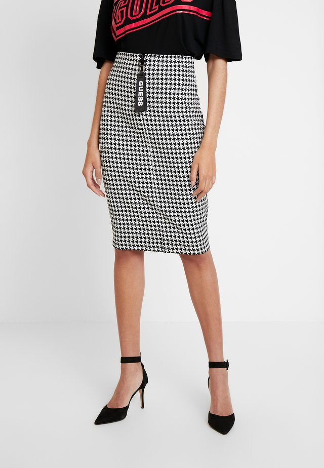 BRIDGET SKIRT - Pencil skirt - black/white