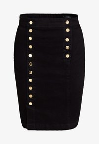 Guess - MIT KNÖPFEN - A-line skirt - black - 3