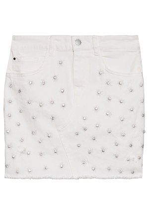 INDIA SKIRT - Spódnica jeansowa - jungle white