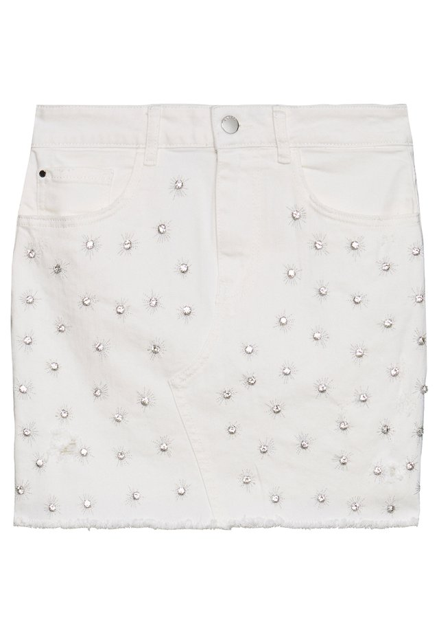 INDIA SKIRT - Jeansrok - jungle white