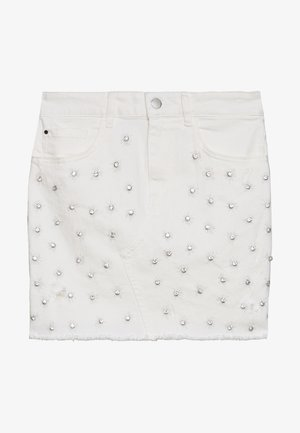 INDIA SKIRT - Jeansskjørt - jungle white