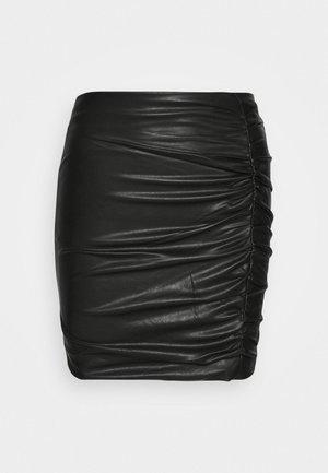EULALIA SKIRT - Mini skirt - jet black