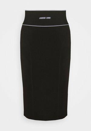 KAYLA SKIRT - Spódnica ołówkowa  - jet black
