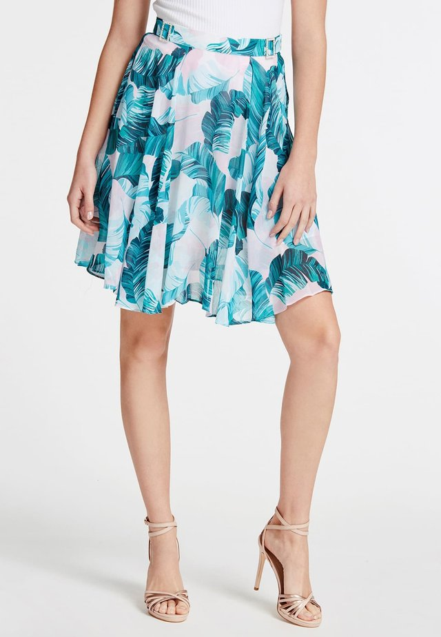 MIT ALLOVER-PRINT - A-lijn rok - blue