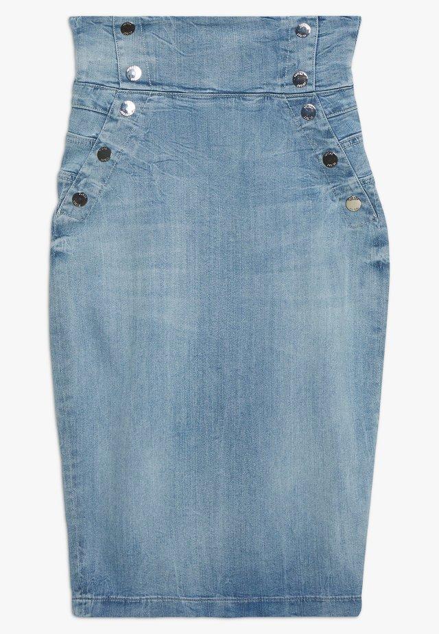 SKIRTS - Spódnica ołówkowa  - light blue