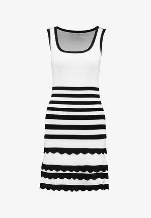 ANTOINETTE DRESS - Etuikjole - black/white