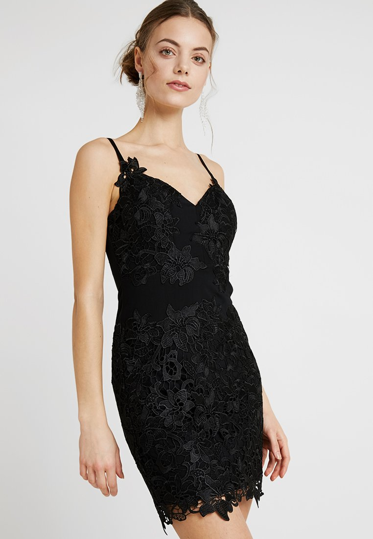 Guess - SIBILLA DRESS - Cocktailkjoler / festkjoler - jet black