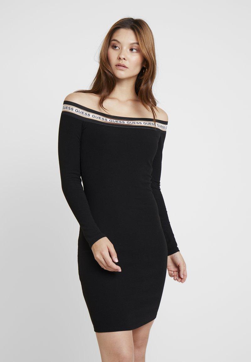 Guess - ALEXIA DRESS - Strikket kjole - jet black