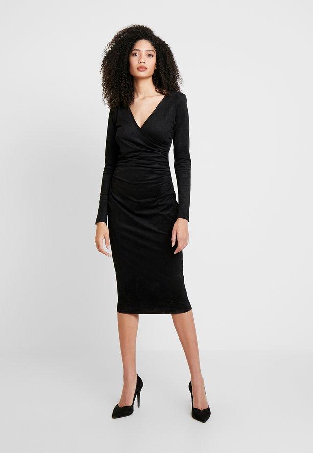 GINETTE DRESS - Etui-jurk - jet black