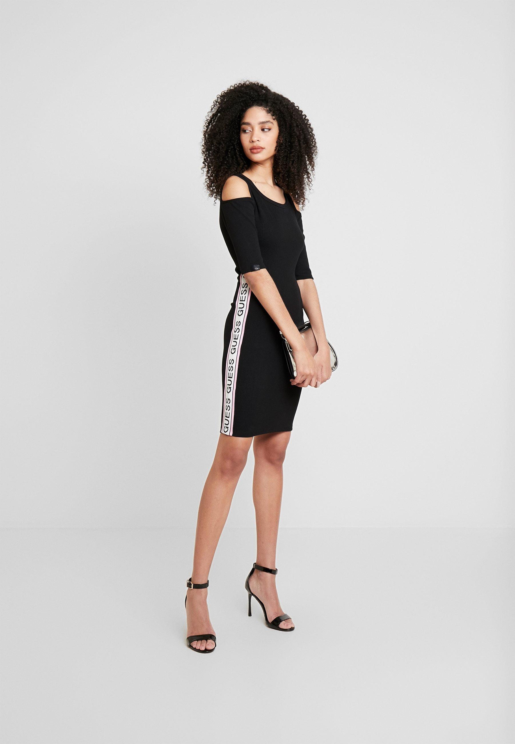 Guess ALMA - Sukienka z dżerseju - jet black