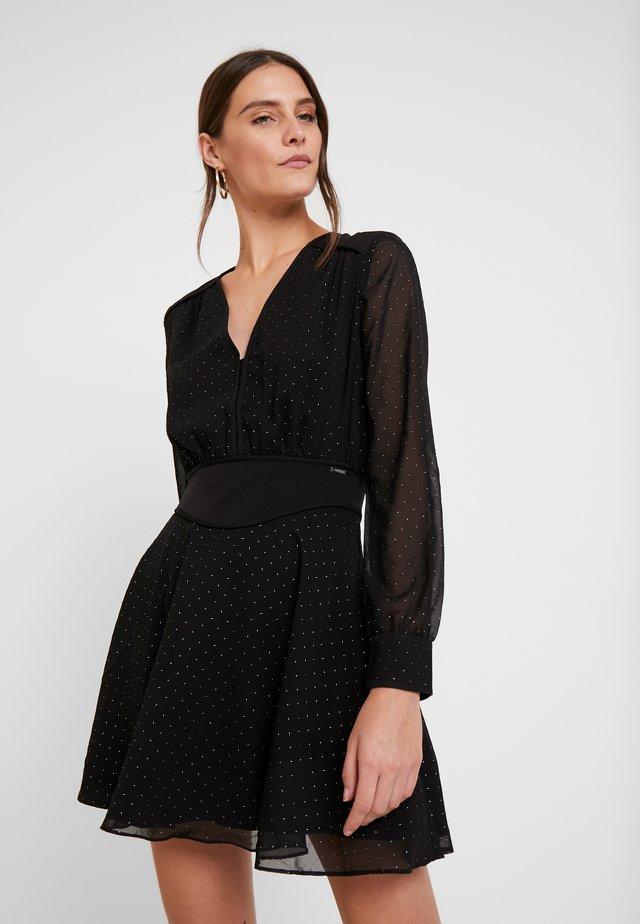 ISRA DRESS - Korte jurk - jet black