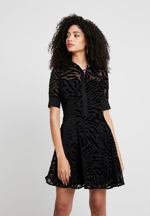 ARA DRESS - Shirt dress - jet black