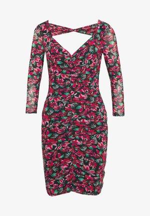 DULCE DRESS - Tubino - pink/black