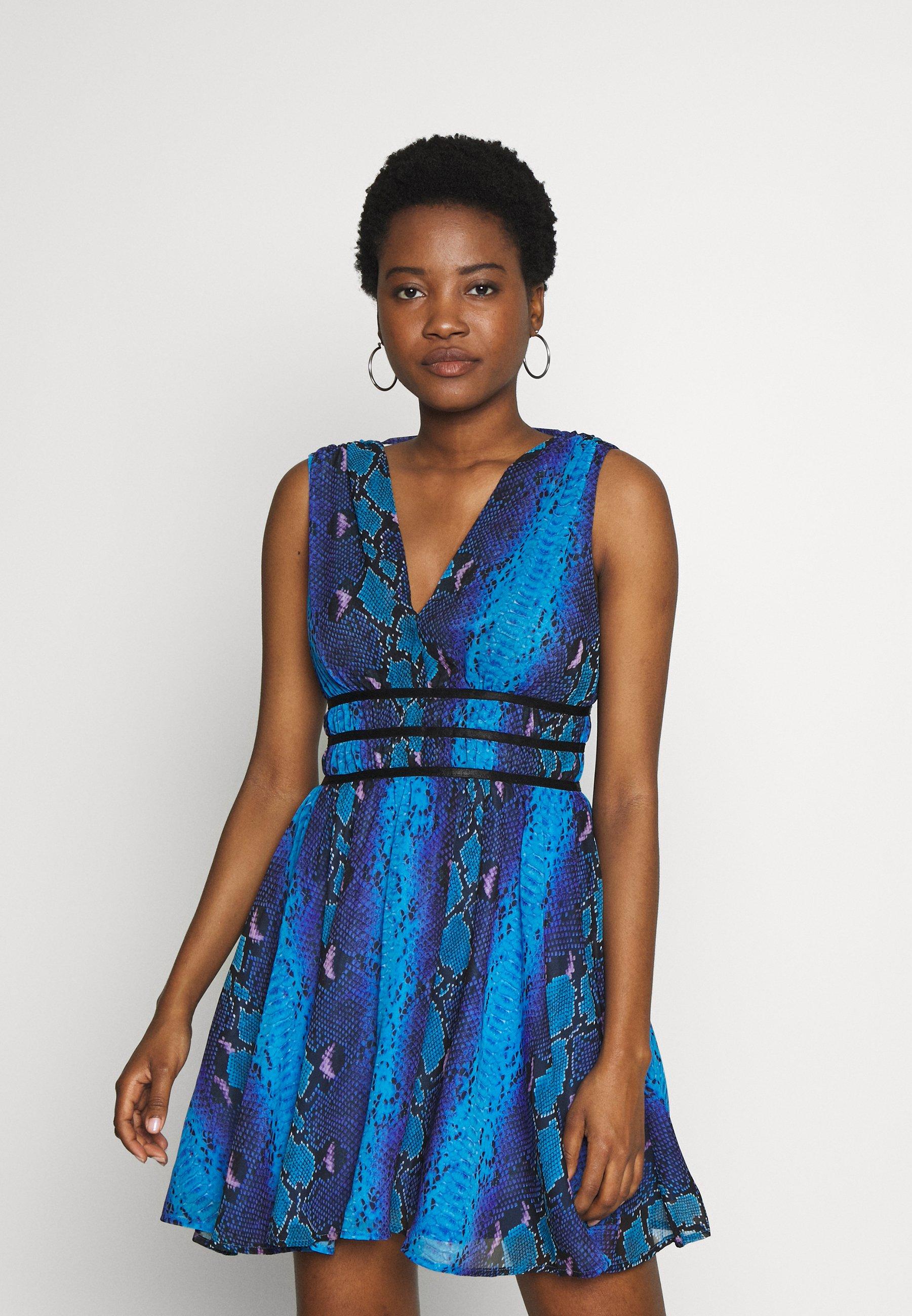 GINNY DRESS Vestito estivo python rock blue