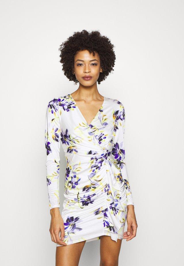 ANTHEA DRESS - Sukienka etui - watercolor flowers