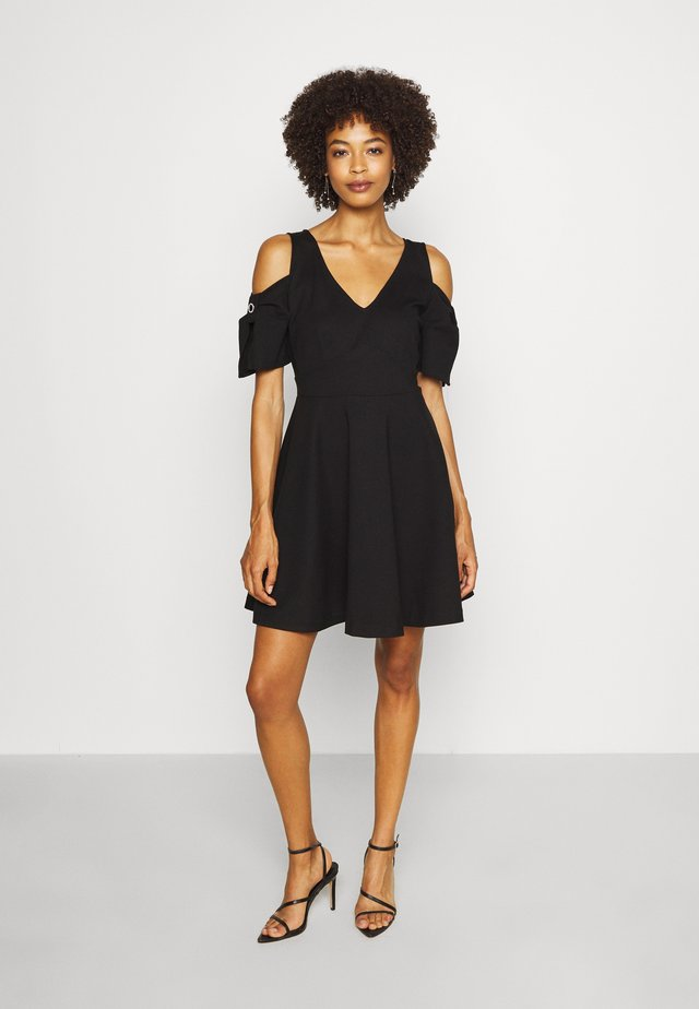 JEANETTE DRESS - Korte jurk - jet black