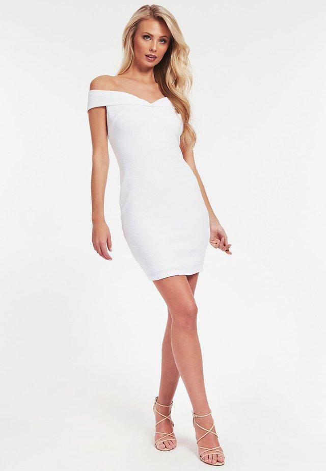 CRÊPE-KLEID - Etui-jurk - white