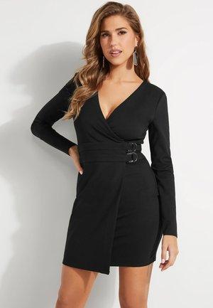 KLEID DOPPELGÜRTEL - Korte jurk - schwarz