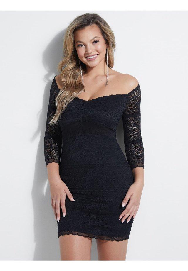 KLEID SPITZE - Etui-jurk - schwarz