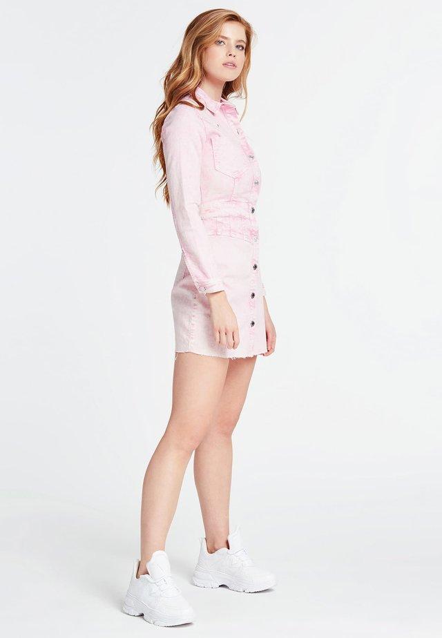 ROBE JEAN SLIM - Spijkerjurk - rose