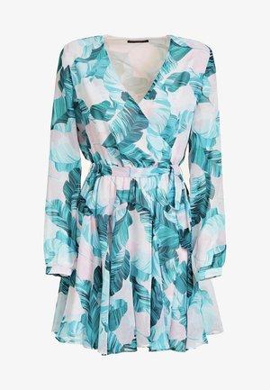 GUESS KLEID MIT BLUMENPRINT - Day dress - blue, off-white