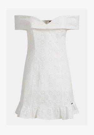 GUESS KLEID BAUMWOLLE - Cocktail dress / Party dress - weiß
