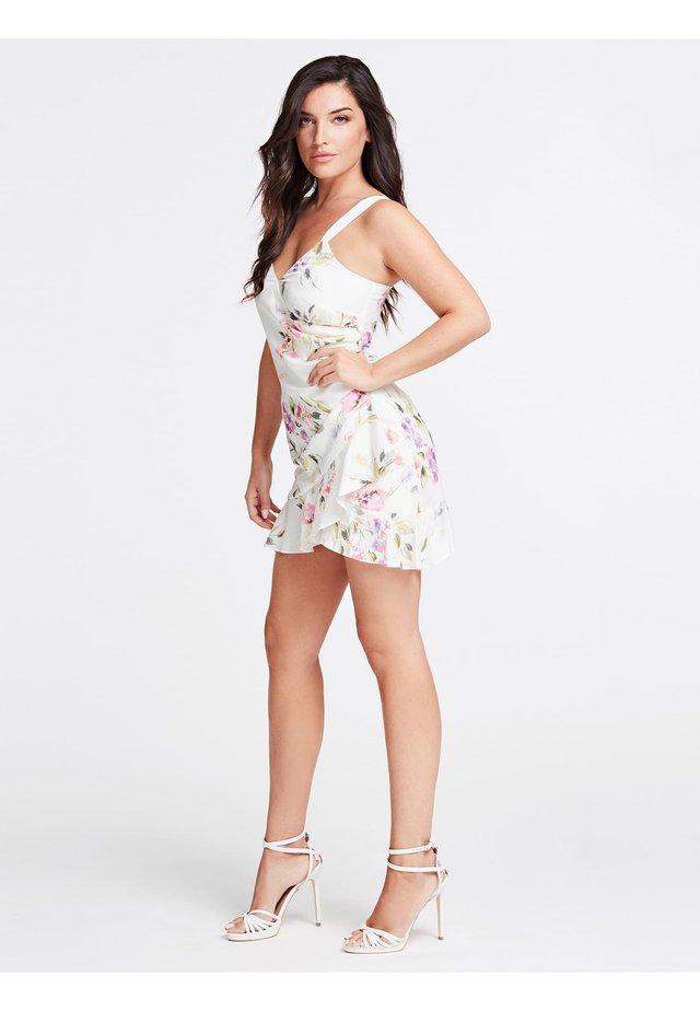 Korte jurk - mehrfarbig, weiß