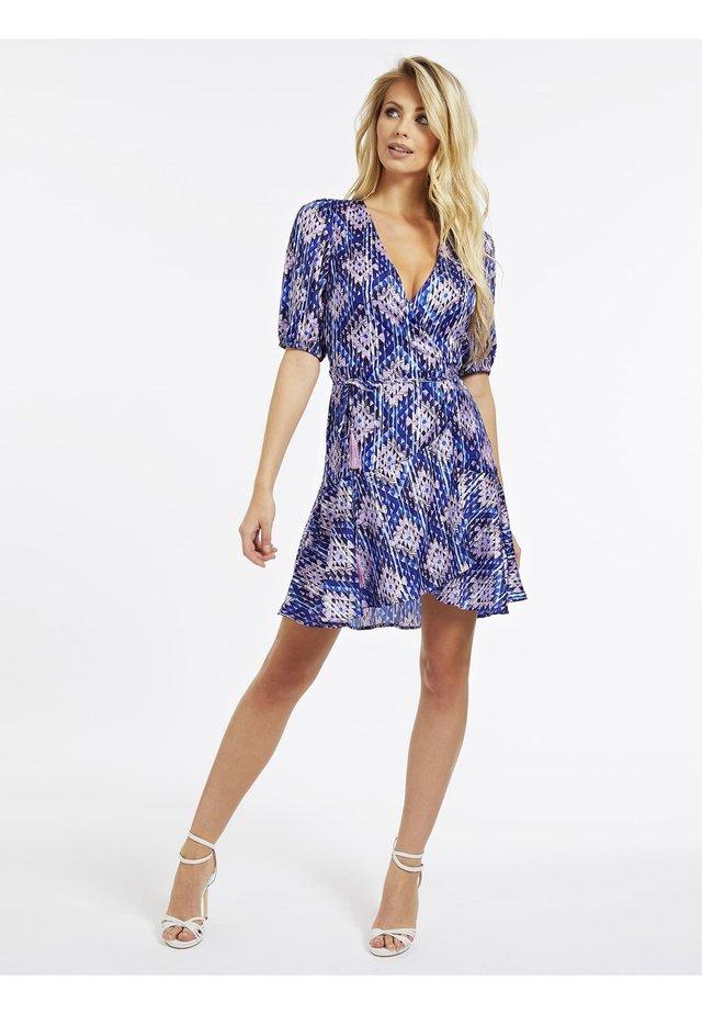 Korte jurk - mehrfarbig, grundton blau