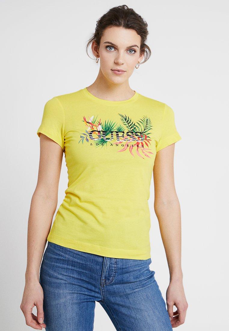 Guess - Print T-shirt - yellow