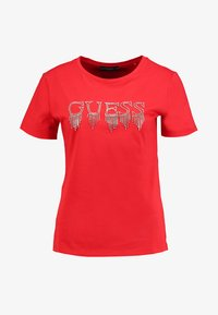 Guess - STONES TEE - T-shirt print - tomato juice - 3