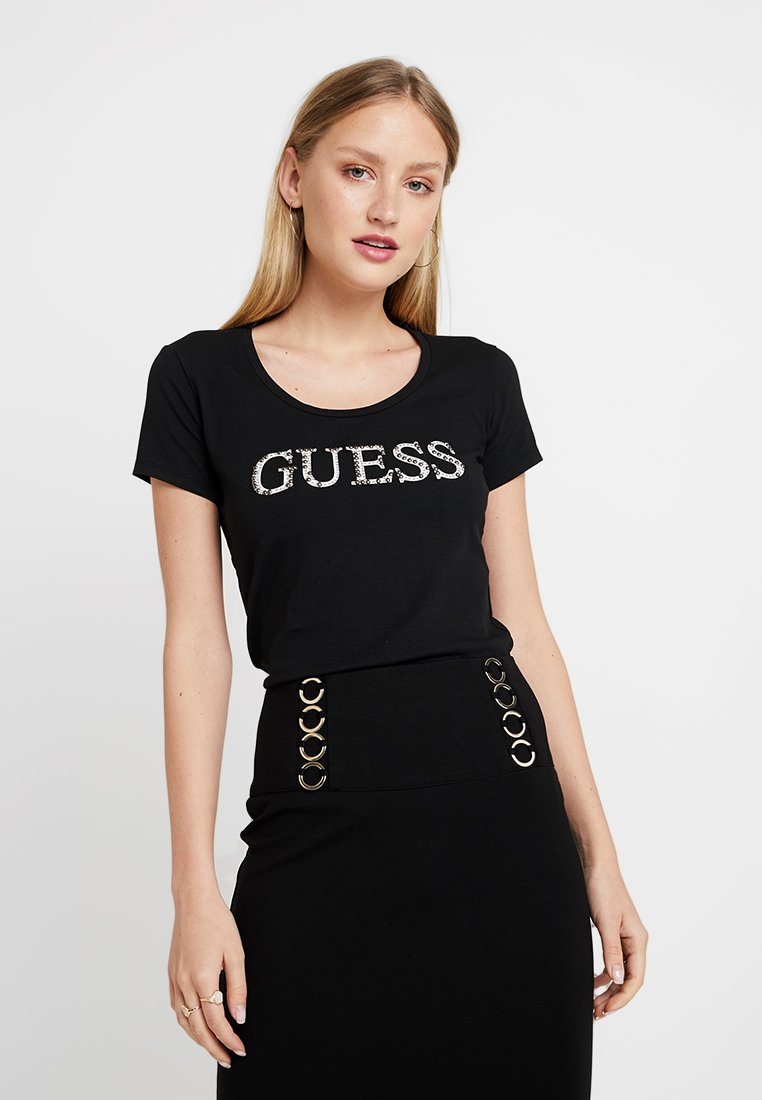 Guess - T-shirt med print - jet black