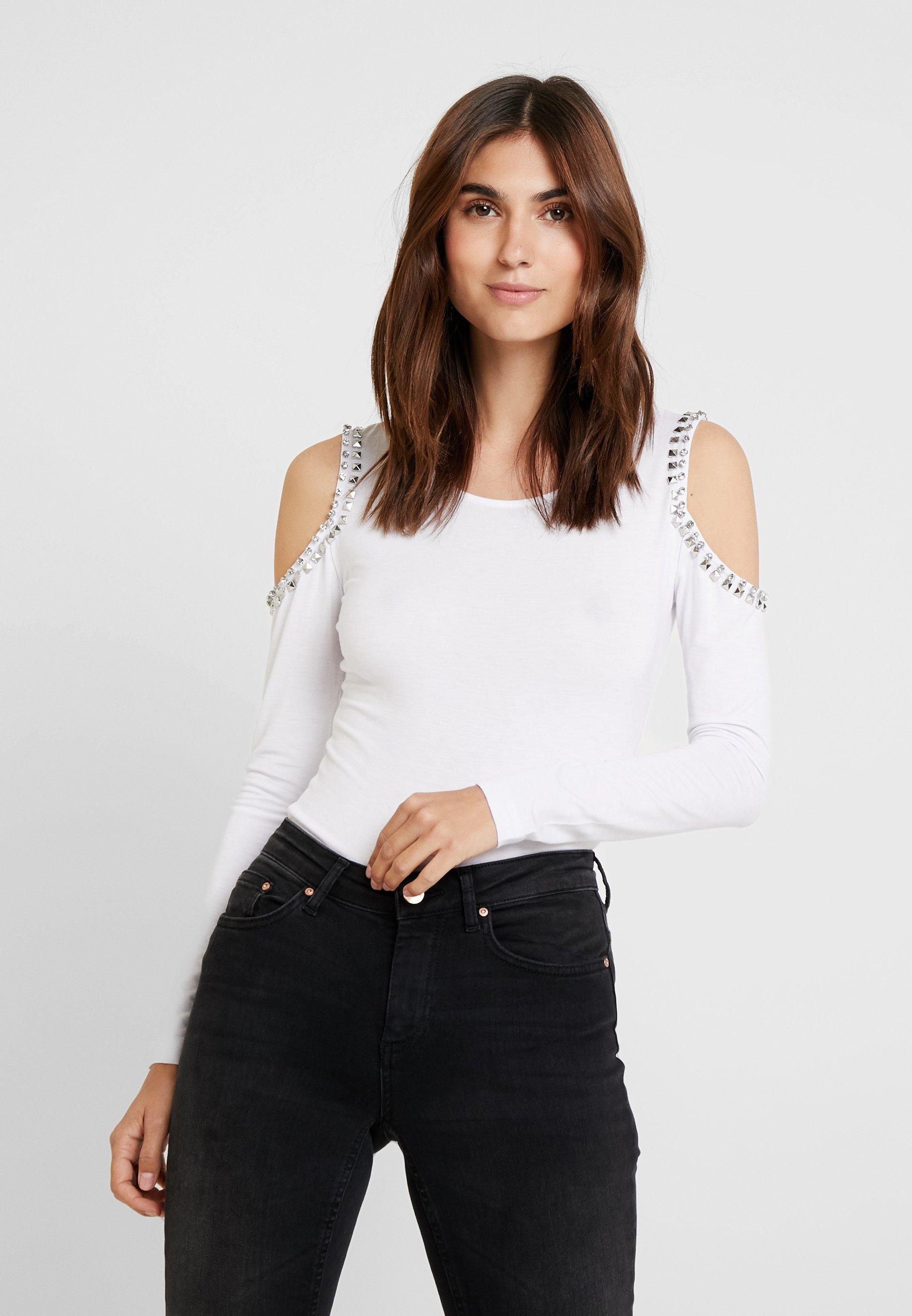 longues white Guess manches LEONORAT shirt à true BoedrCx