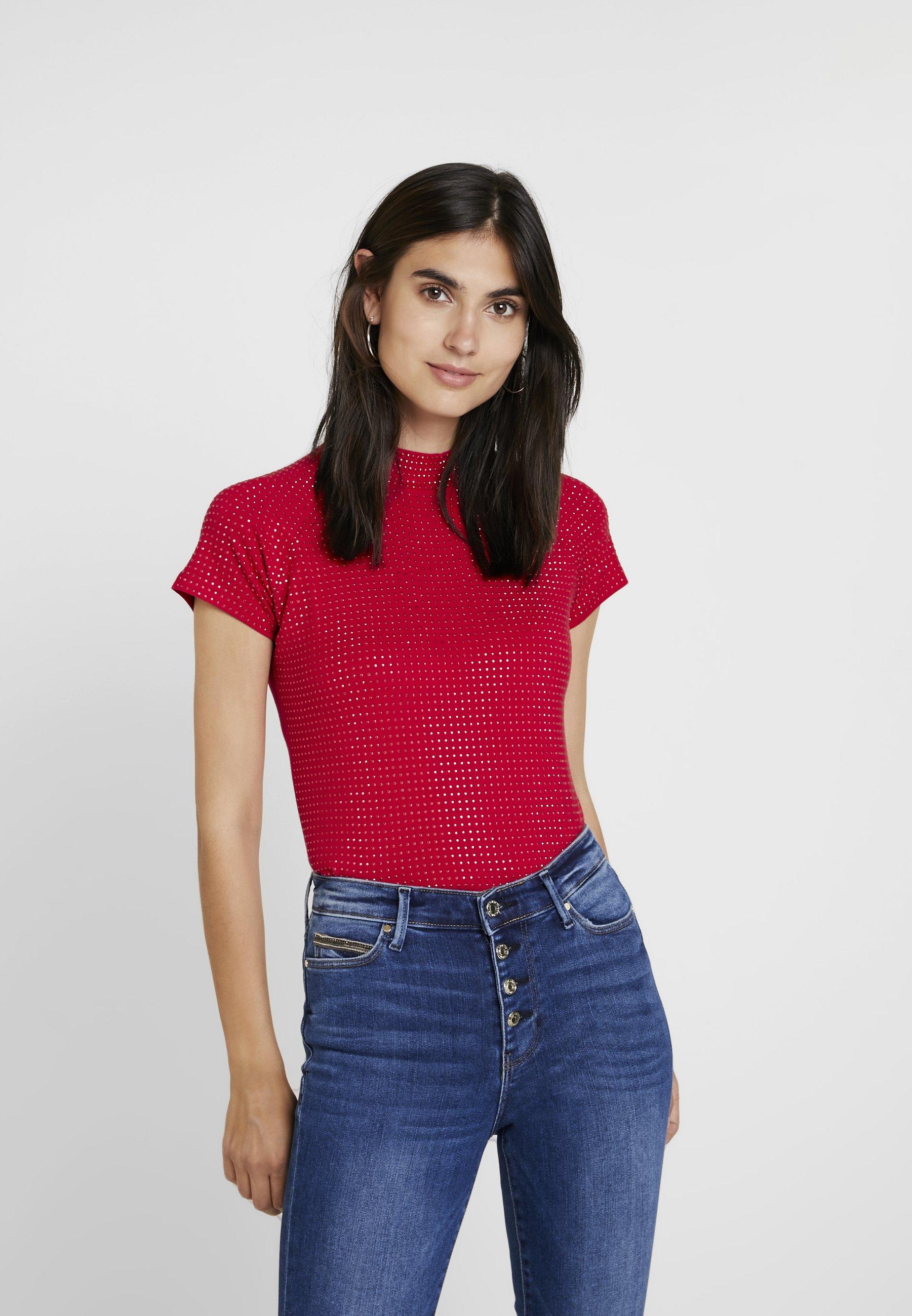 Guess SOLE TOP - T-shirt imprimé red attitude