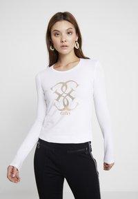Guess - Langærmede T-shirts - true white a000 - 0