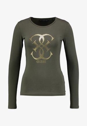 Langærmede T-shirts - dark military green