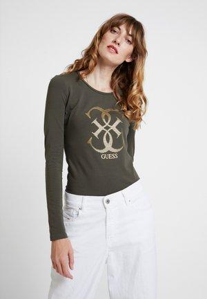 Maglietta a manica lunga - dark military green
