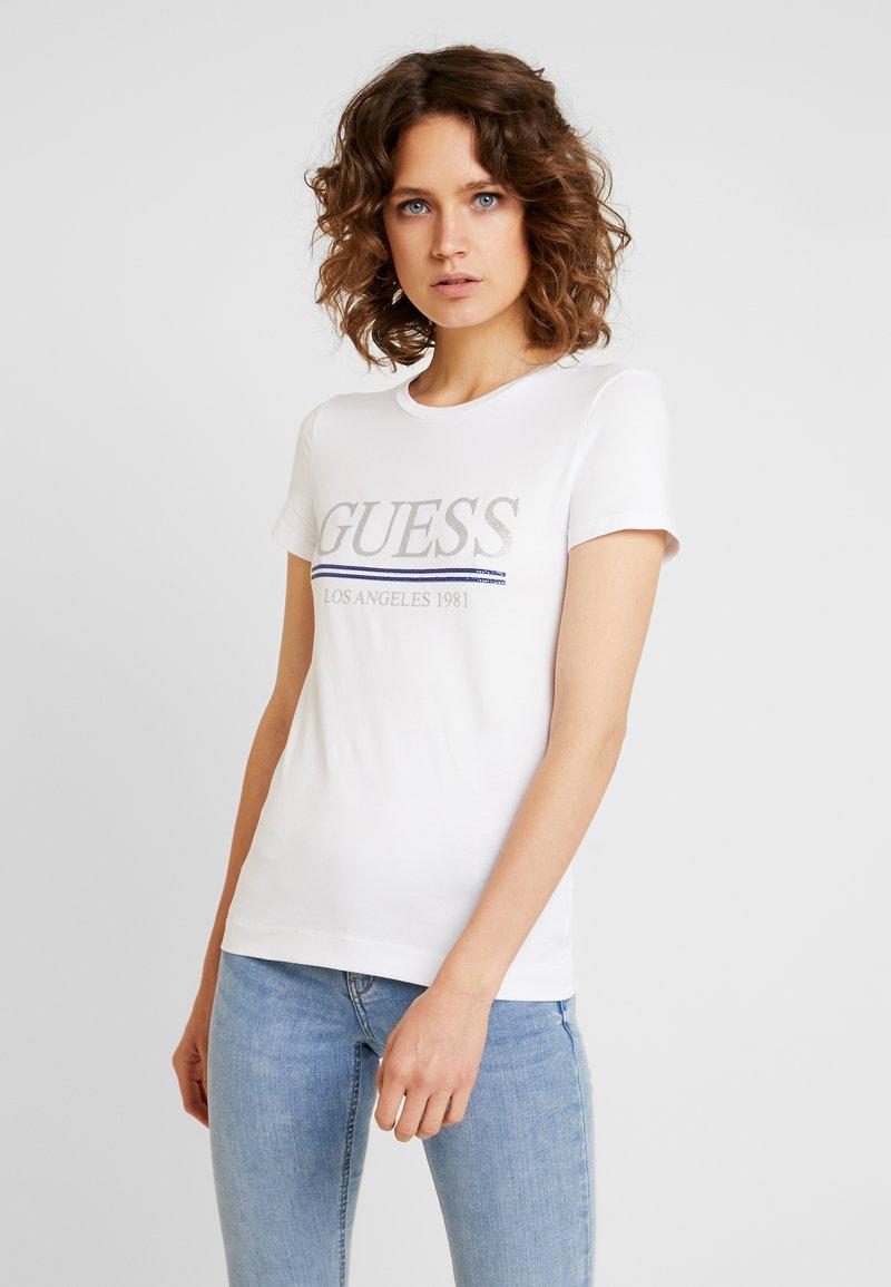 Guess - TEE - Print T-shirt - true white