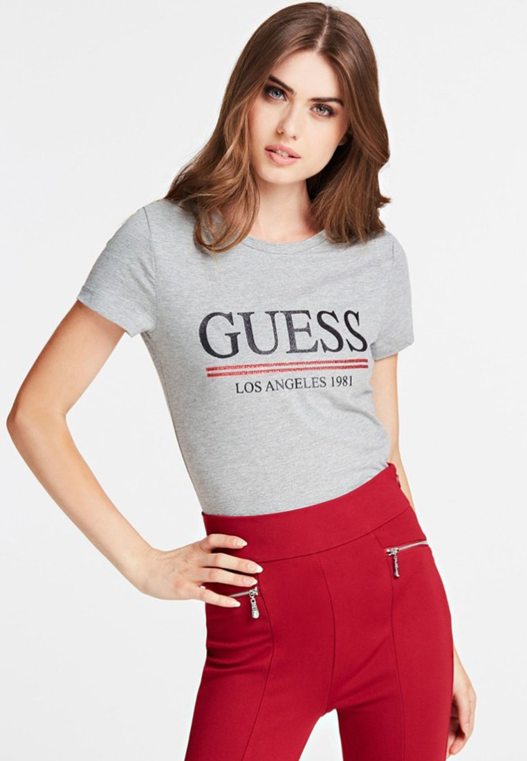 Guess - TEE - T-Shirt print - grey
