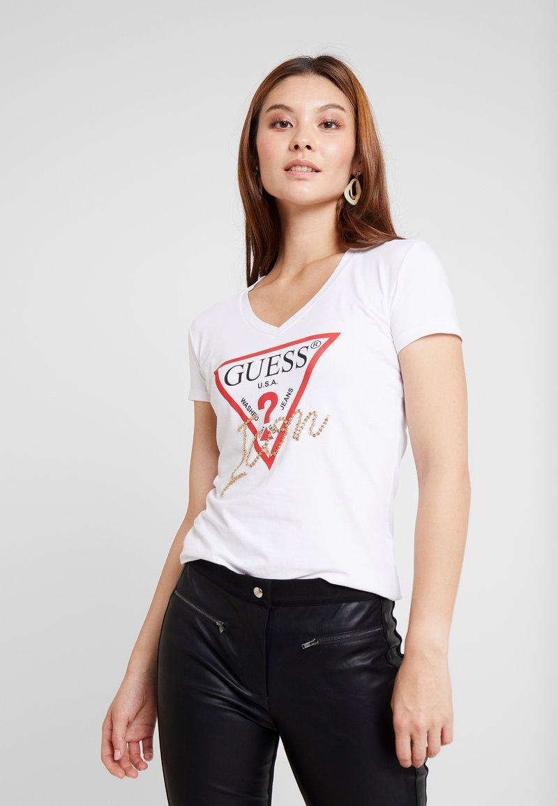 Guess - ICON - Camiseta estampada - true white