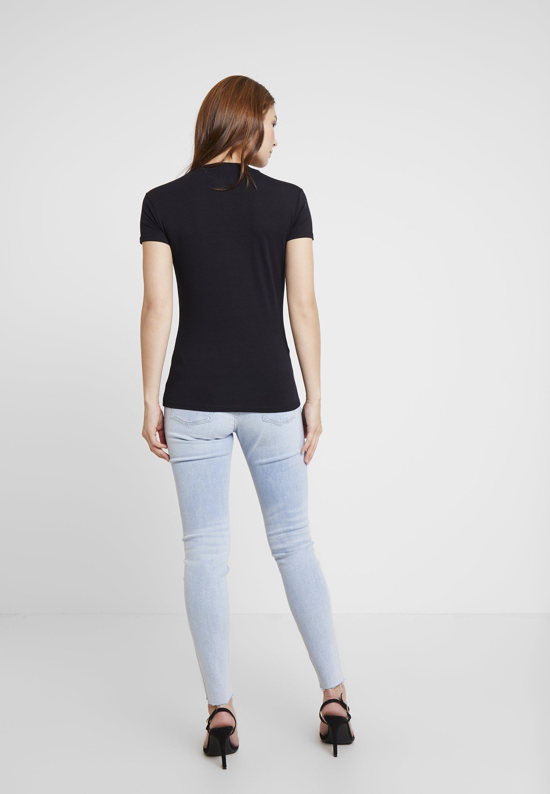 Guess Imprimé Black shirt IconT Jet QrCeWEodBx