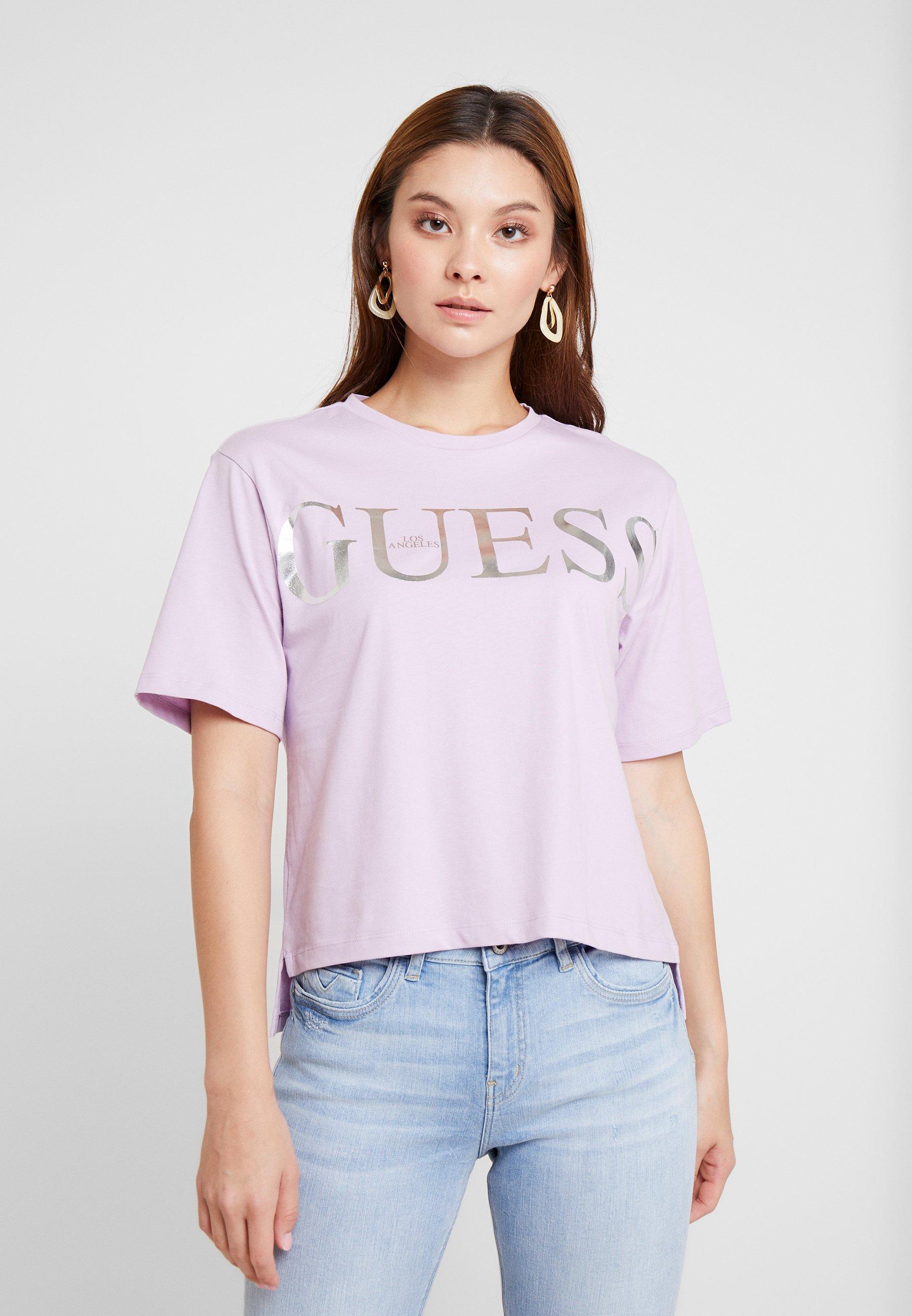 Guess FitT shirt Imprimé Regular Lush Violet OwP8n0k
