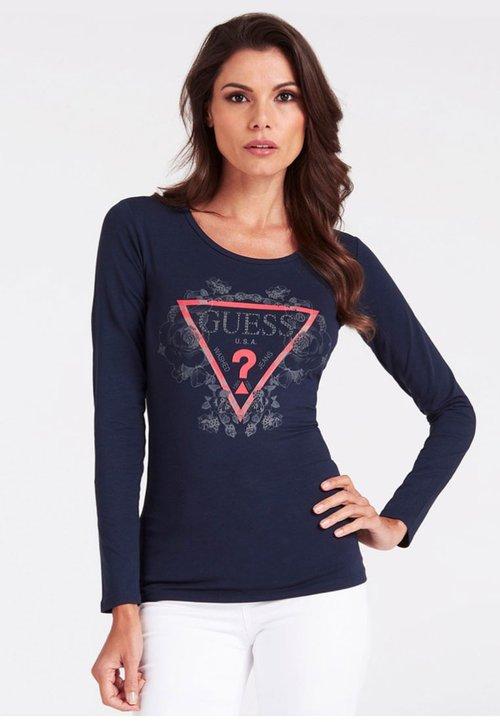 85% ZNIŻKI Guess Bluzka z długim rękawem - blue Koszulki i Topy VHDS-BZ2