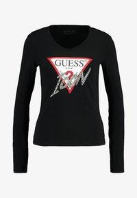 Guess - ICON TEE - T-shirt à manches longues - jet black - 3