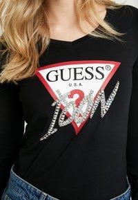 Guess - ICON TEE - T-shirt à manches longues - jet black - 4