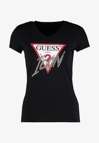 Guess - ICON TEE - T-shirt imprimé - jet black - 3