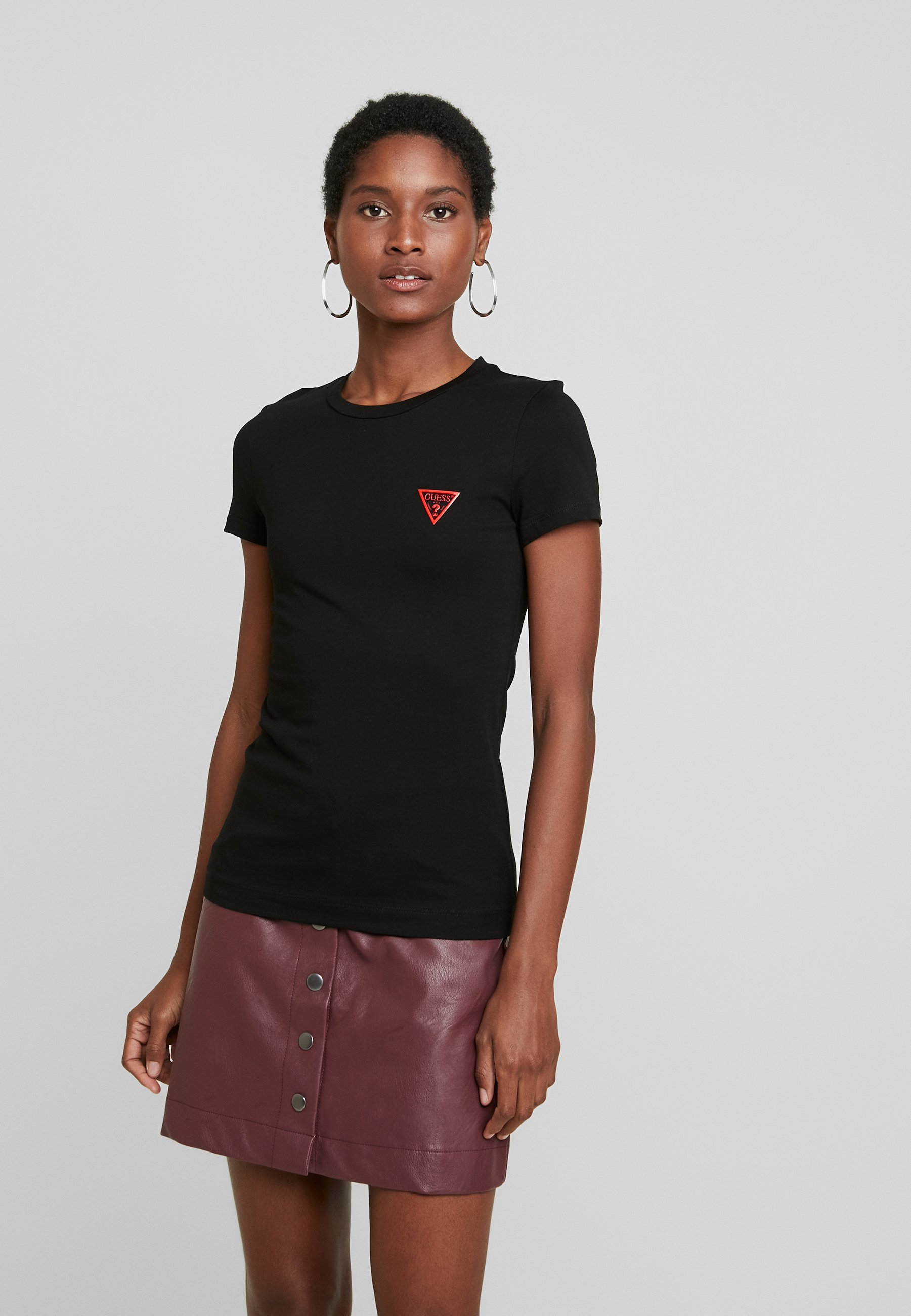 Guess POP TEE - T-shirt basic - jet black