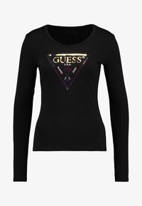 Guess - SUMMER LOGO - Long sleeved top - jet black - 4