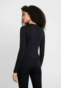 Guess - SUMMER LOGO - Long sleeved top - jet black - 2