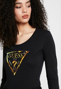 Guess - SUMMER LOGO - Long sleeved top - jet black - 5