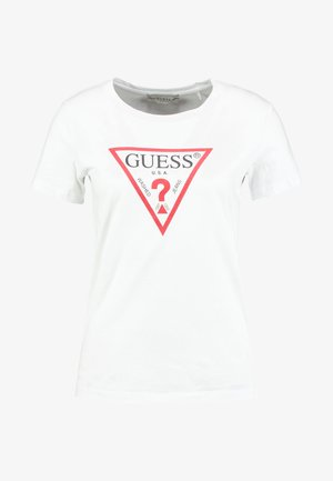 CREW NECK SS - T-shirt z nadrukiem - true white